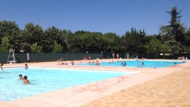 The swimming pool at Montolieu